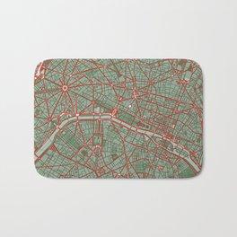 Paris city map pop Bath Mat