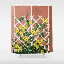 Black-Eyed Susans on Browns Shower Curtain