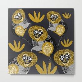 Kipunji Monkeys  Metal Print