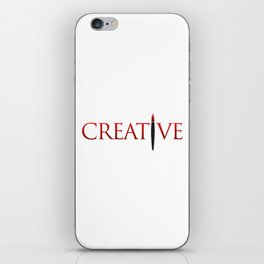 Creative Word with Pen iPhone Skin