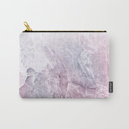 Sea Dream Marble - Rose and white Carry-All Pouch