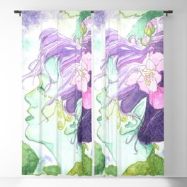 The Blackberry Faery Blackout Curtain
