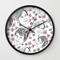 dramatical murder Wall Clocks featuring murder husbands by The Wayward Daughter