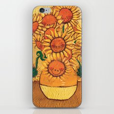 Flowers - Reinterpretation of Vase with 12 sunflowers by Vincent Van Gogh - Kids Art for sale iPhone & iPod Skin