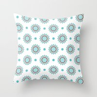 agnes Throw Pillows featuring Agnes by Ludivineem