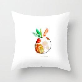 Peach Fan Throw Pillow