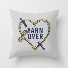 Yarn L(over) Throw Pillow