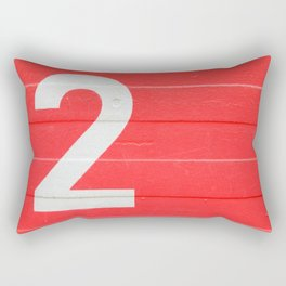 TWO on red Rectangular Pillow