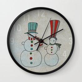 Snowmen Wall Clock