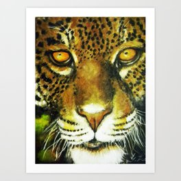 Wildlife Animal Painting - Jaguar Art Print