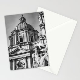 Piazza Navona, the ancient Stadium of Domitian, in Rome, Italy Stationery Cards