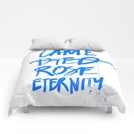#JESUS2019 - Came Died Rose Eternity (blue) Comforters