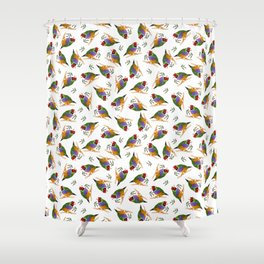 Gouldian finches Shower Curtain