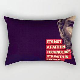 Office SteveJobs Quote Rectangular Pillow