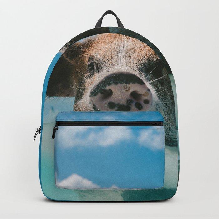 Pig in water Backpack