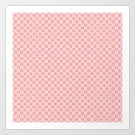 Large Dark Blush Pink Spots on Blush Pink Art Print