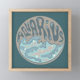 Aquarius Framed Mini Art Print