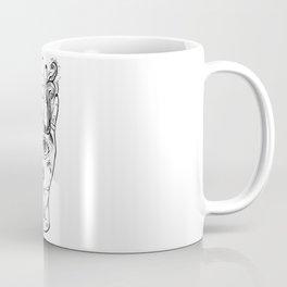 Third Eye Hand - Black And White Color Palette Coffee Mug
