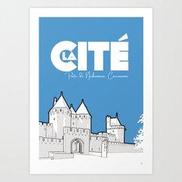 Cité de Carcassonne - Porte Narbonnaise Art Print