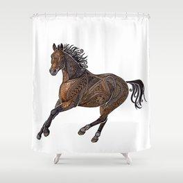 Grecian Horse Shower Curtain