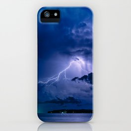 night lightning iPhone Case
