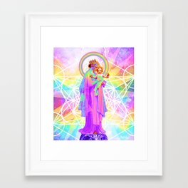 Our Lady of Sacred Geometry Framed Art Print