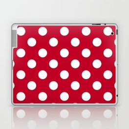 Red and Polka White Dots Laptop & iPad Skin