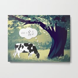 You Can't Take the Lab Out of the Cow Metal Print