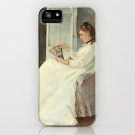 The Artist's Sister at a Window by Berthe Morisot iPhone Case