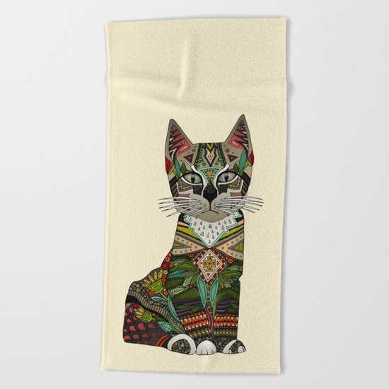 pixiebob kitten cream Beach Towel