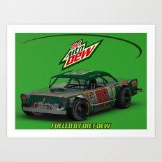 Old School #Earnhardt #88 #NASCAR Art Print