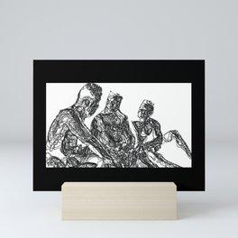 3 men confessing Mini Art Print