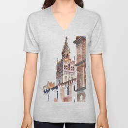 Catedral de Sevilla Unisex V-Neck