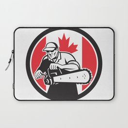 Canadian Tree Surgeon Chainsaw Canada Flag Laptop Sleeve