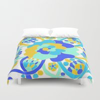 "amy hamilton Duvet Covers featuring ""Amy"" by Ma'at Silk"