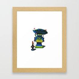 Robot-Bob Framed Art Print