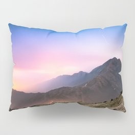 Fantasy mountainscape at night with starry sky in Hong Kong Pillow Sham