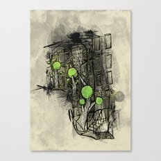 Sketched City Street Canvas Print