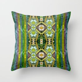 Bread sticks and fantasy flowers in a rainbow Throw Pillow