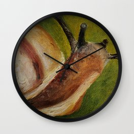 Art, oilpainting insect snail Wall Clock