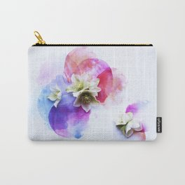 Hellebores on water colors Carry-All Pouch