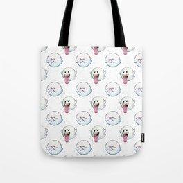 Ghost Boo Pattern, Halloween Pattern Tote Bag