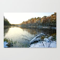 Frosted Sunset Canvas Print