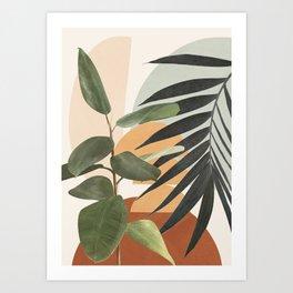Sunset Flora 03 Art Print