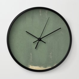 Minimal Abstract Green Colorfield Painting 01 Wall Clock