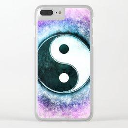 Yin Yang - Blue Moon Corona Clear iPhone Case