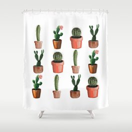 Various Cacti Shower Curtain