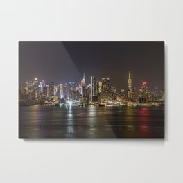 City of Bright Lights New York, New York Metal Print