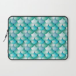 mermaid scales, turquoise shimmer Laptop Sleeve