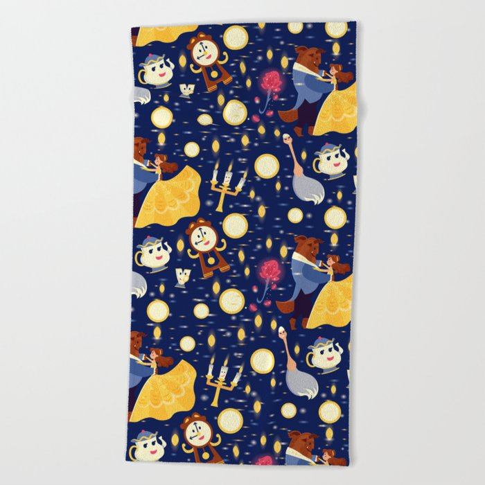 Be Our Guest Pattern Beach Towel